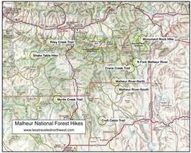 oregon national forest map day hikes in the malheur national forest