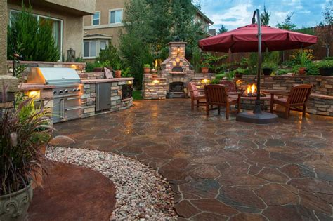 Patio Tones by 48 Beautiful Patio Designs Concrete Flagstone And Brick