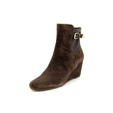 isaac mizrahi kayln suede brown ankle boot boots