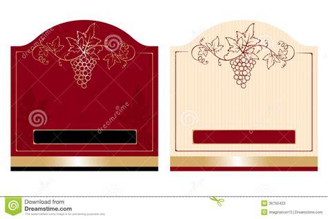 Patterns Wine Labels Stock Vector Illustration Of Drink 36755423 Wine Label Design Templates Free