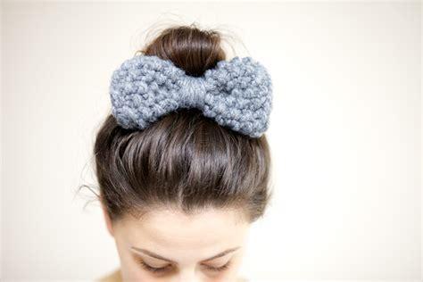 how to knit hair band hair bow bow hairband chunky knit bow hairband slate