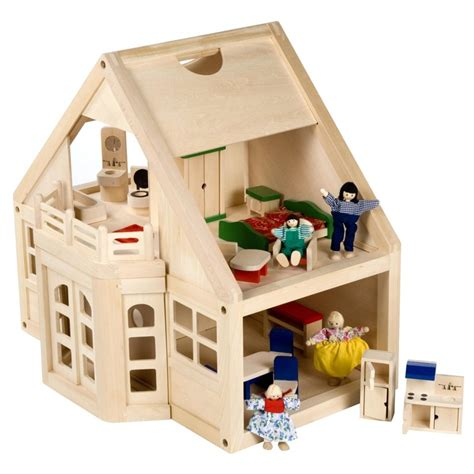 wooden doll house people melissa and doug furnished wooden dollhouse kit dollhouses at hayneedle