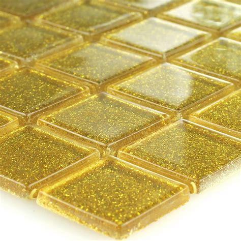fliese gold glasmosaik fliesen gold glitzer 25x25x4mm ebay
