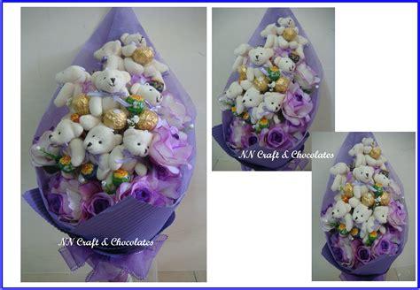 Teddy Coklat I You nn craft chocolates teddy with forrero lolipop