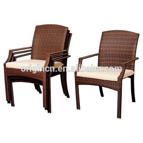 types of wicker furniture backyard courtyard furniture stackable rattan garden chair