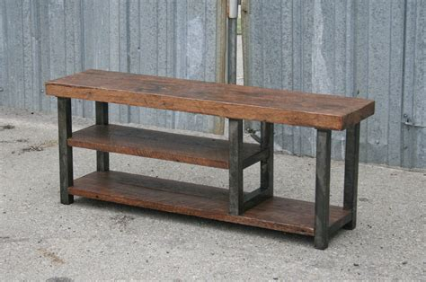 reclaimed oak bench combine 9 industrial furniture industrial bench with shelf