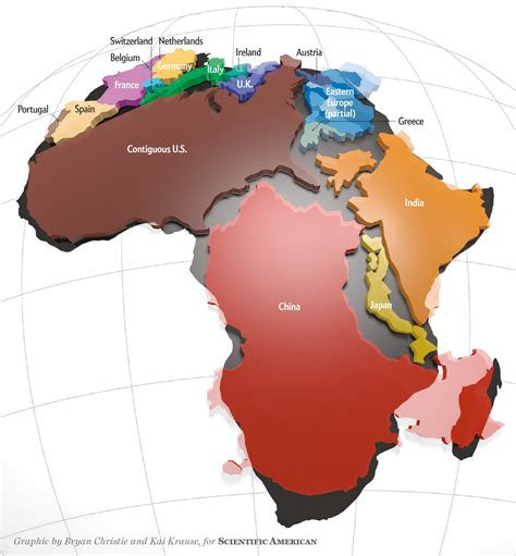 africa is way bigger than you think scientific american