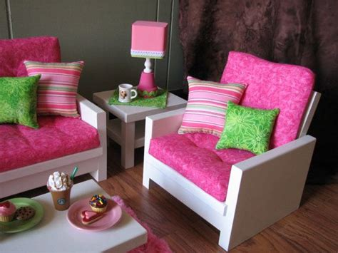 doll living room furniture 18 quot doll furniture american sized living room loveseat chair coffee table end