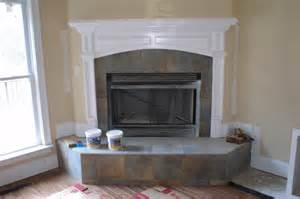 slate fireplace surrounds fireplace surround with a slate style porcelain tile