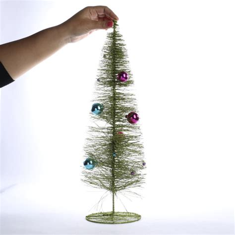 brush tree decorated decorated green sparkle bottle brush tree and winter sale sales
