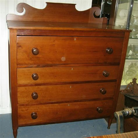 Antique Cherry Chest Of Drawers by Antique Cherry And Butternut Sheraton Chest Of Drawers