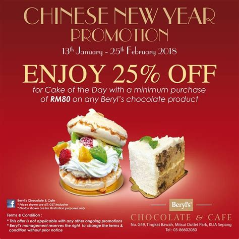 new year lunch promotion beryl s chocolate cafe new year promotion