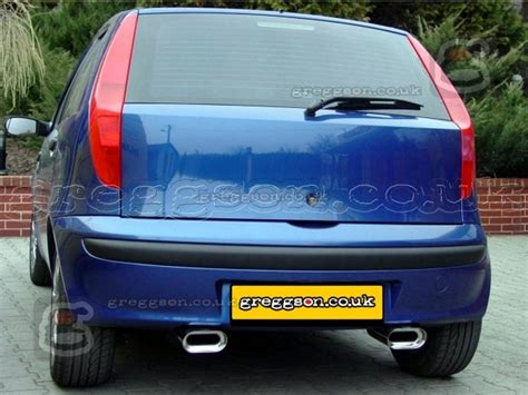 exhaust for fiat punto fiat punto mk2 1999 2005 sport performance exhaust