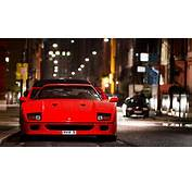 Ferrari F40 City Night Street Wallpaper  Nature And