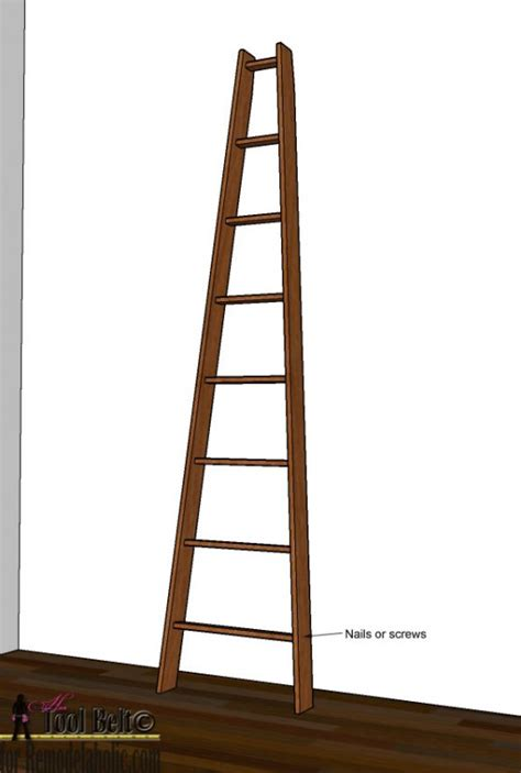 Decorative Step Ladder by Remodelaholic Decorative Orchard Ladder Building Plan