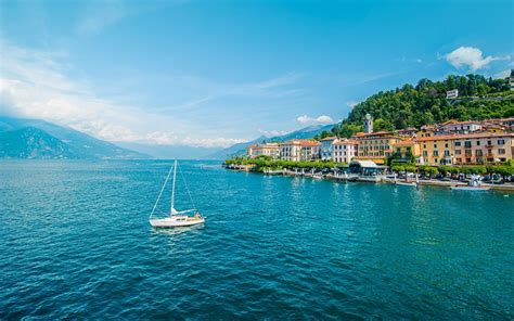 d italia como wallpapers italy bellagio lombardy lake como yacht cities
