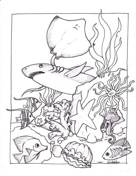 coloring pages of ocean scenes az coloring pages