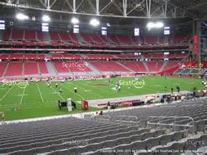 arizona cardinals stadium map of stadium section 117 seat views