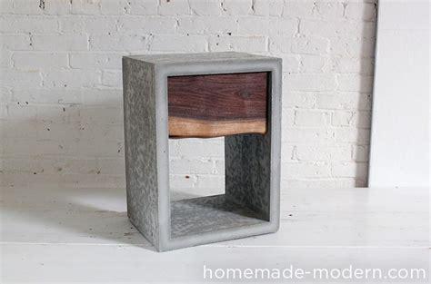 nachttisch beton modern ep56 concrete walnut nightstand