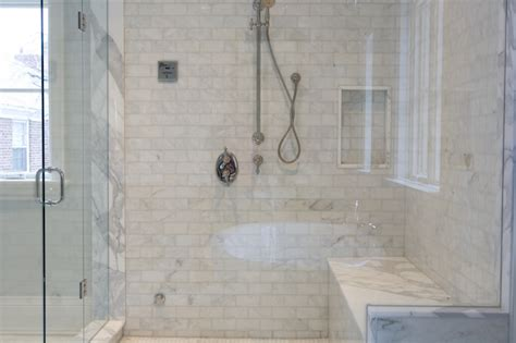 walk in shower with bench seat marble shower bench contemporary bathroom terra verre