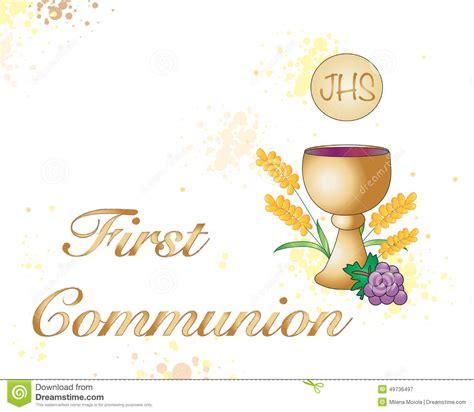clipart prima comunione communion stock illustration illustration of cross