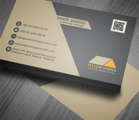 Template Of Business Cards free real estate business card template psd freebies