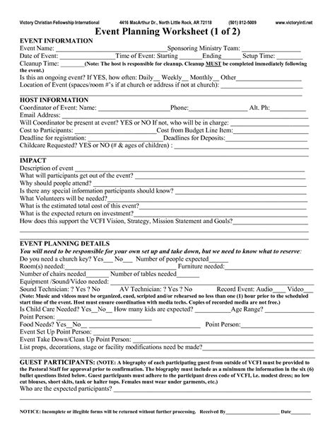 event planning worksheet event planning worksheet event best photos of event planning worksheet template free