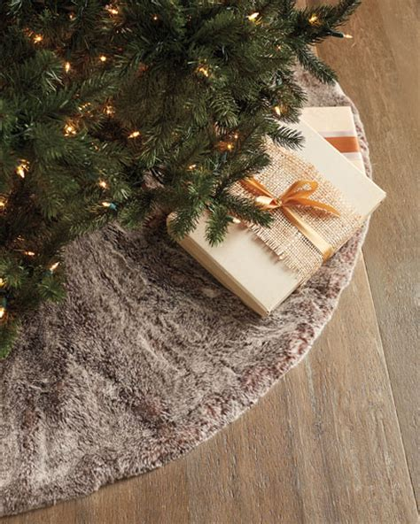 faux fur christmas tree skirt