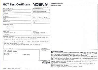 mot mot new related keywords suggestions for mot certificate