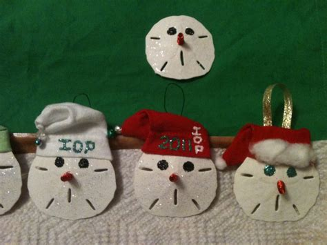 tree ornaments   sand dollars crafts pinterest