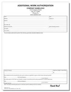 additional work authorization template additional work authorization form windy city forms