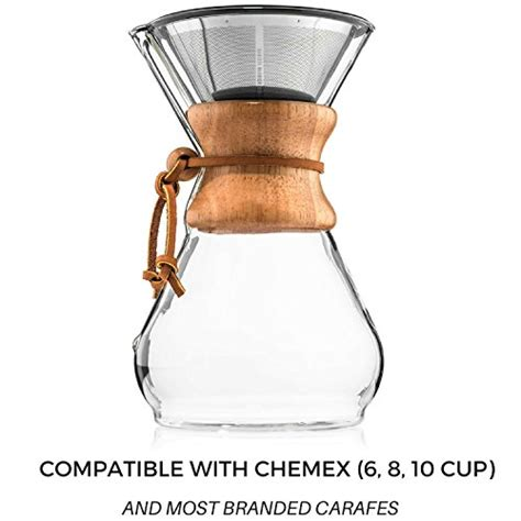 Mokha V60 Pour Coffee Dripper Reusable Cone Stainless W Stand Pour Coffee Filter Reusable Stainless Steel Cone