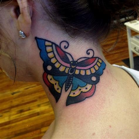 decent tattoo designs 63 beautiful neck butterfly tattoos