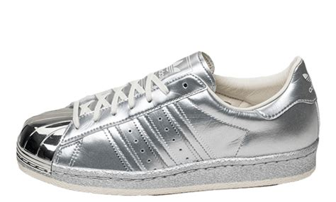 Adidas Silver adidas superstar 80s metallic silver the sole supplier