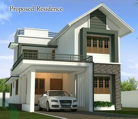 kerala home design kottayam 4 bhk double floor modern home design at 1750 sq ft