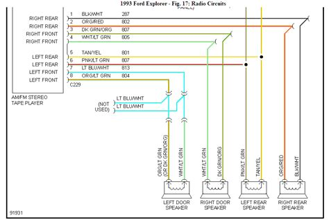 95 ford ranger speaker wiring diagram 95 ford radio wiring