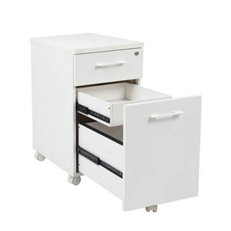 contemporary locking white file cabinet with casters