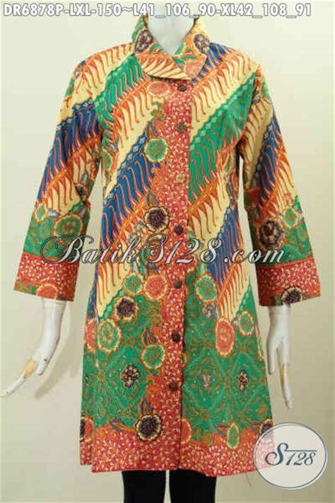 Baju Terusan Cewek Pakaian Wanita Dress Dua Warna Asimetris Clo367 pakaian batik elegan buat cewek baju kerja batik wanita modis dress batik printing klasik