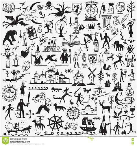 doodle history history tale doodles stock vector image 78282073
