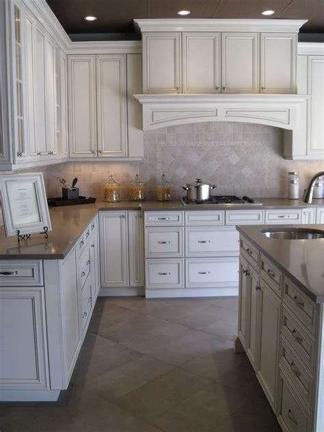 antique white glazed kitchen cabinets antique white with pewter glaze kitchen