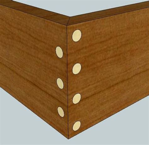 joinery strength  doweled miter joint woodworking