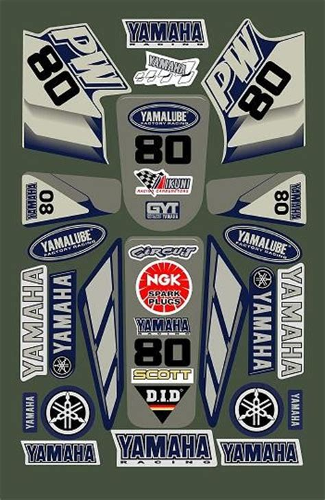 Sticker Yamaha Pw 80 by Yamaha Pw80 Decal Sticker Kit