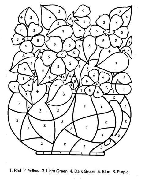 disegni di mazzi di fiori colorare numeri disegno mazzo di fiori con numeri