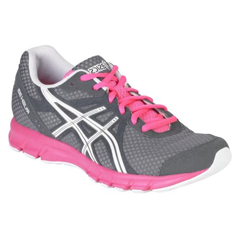 asics s rush33 running athletic shoe grey pink