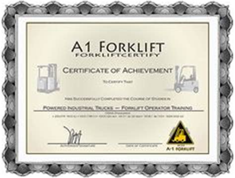 free aerial lift certification card template forklift certification wallet card template work
