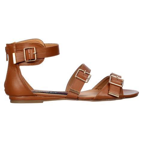 flat buckle sandals shoekandi flat summer flatform sandal gladiator three