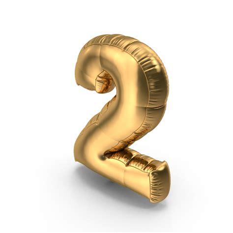 foil balloon number  gold png images psds