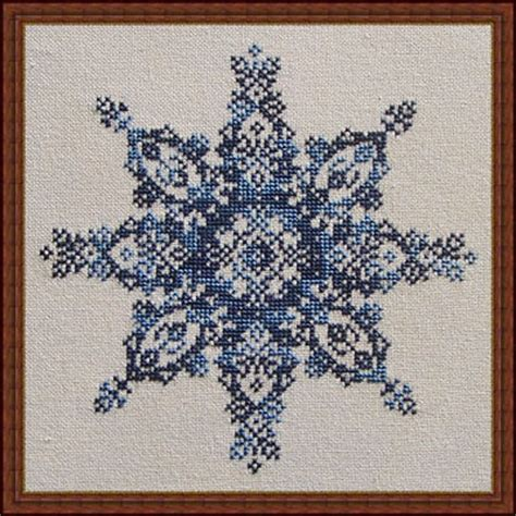 counted cross stitch ornament free patterns winter lace counted cross stitch pattern