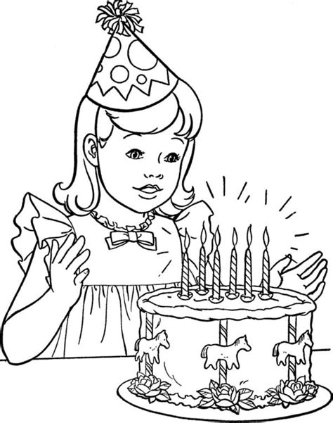 coloring page birthday girl little girl coloring pages the all activity gianfreda net