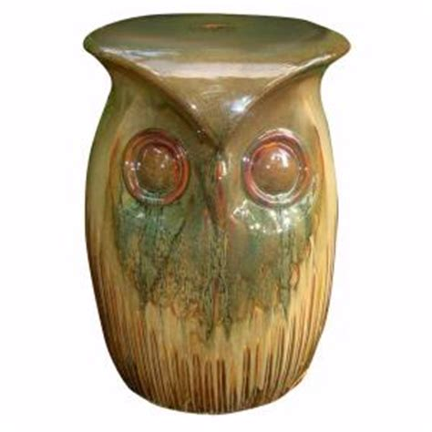 home decorators collection brown owl garden stool